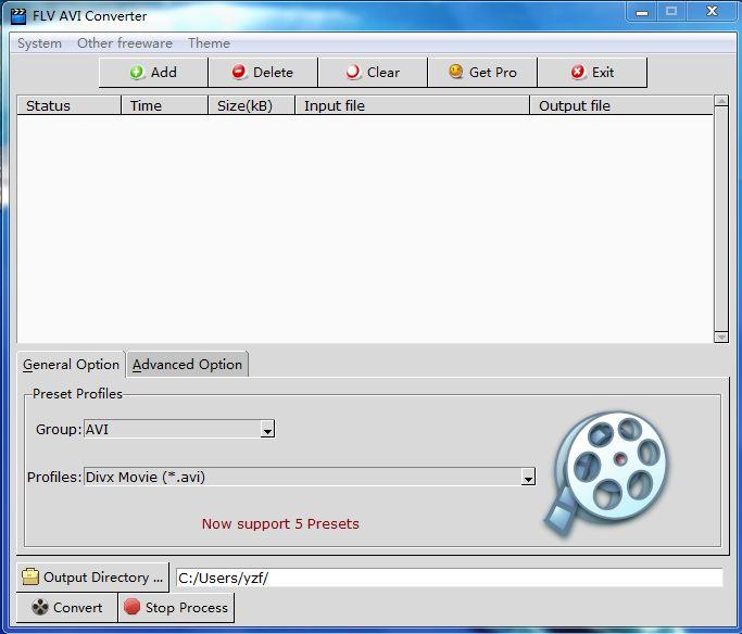 Windows 7 FLV AVI Converter 1.0.1 full