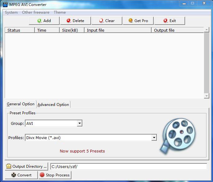 MPEG AVI Converter full screenshot